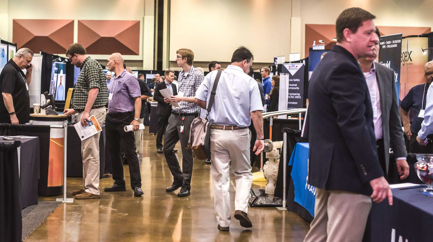 Attendees thronged the exhibit floor to examine equipment, gather information and build working relationships. More than 200 vendors presented products and services.